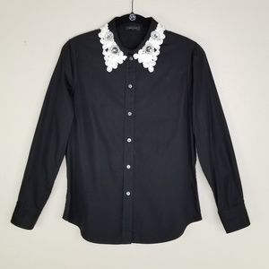 Marc Jacobs Jeweled Collar Button Up EUC
